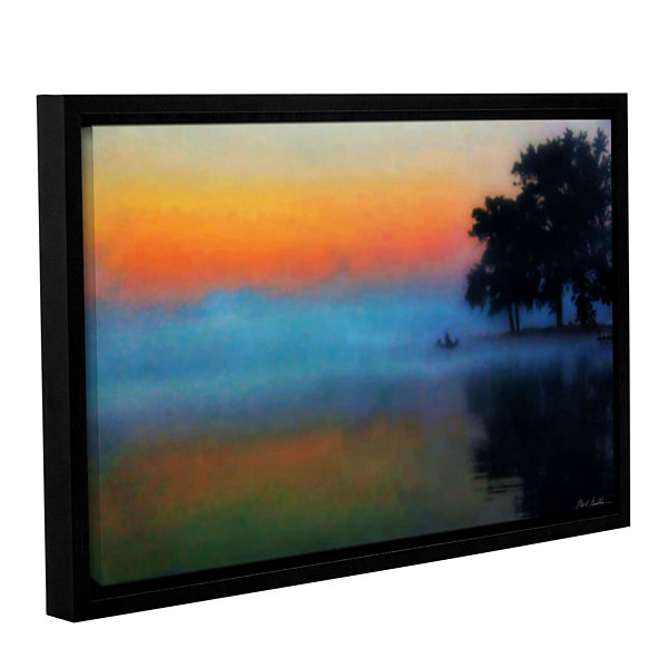 Brushtone Fishing In The Mist Gallery Wrapped Floater-Framed Canvas Wall Art