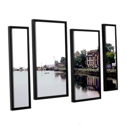 Brushtone Fishing Village Nova 4-pc. Floater Framed Staggered Canvas Wall Art