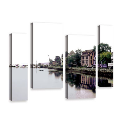 Brushtone Fishing Village Nova 4-pc. Gallery Wrapped Staggered Canvas Wall Art