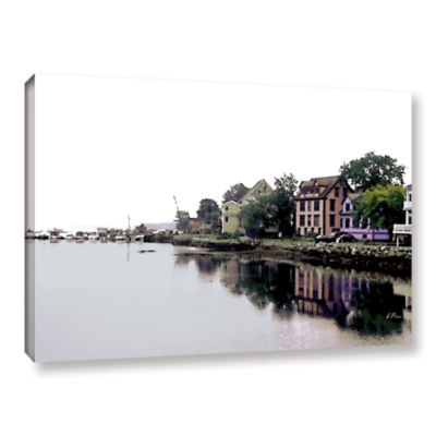 Brushtone Fishing Village Nova Gallery Wrapped Canvas Wall Art