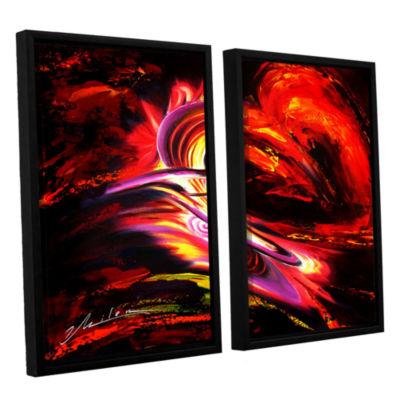 Brushtone Flair 2-pc. Floater Framed Canvas Wall Art
