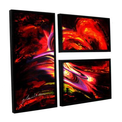 Brushtone Flair 3-pc. Flag Floater Framed Canvas Wall Art