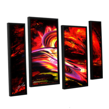 Brushtone Flair 4-pc. Floater Framed Staggered Canvas Wall Art
