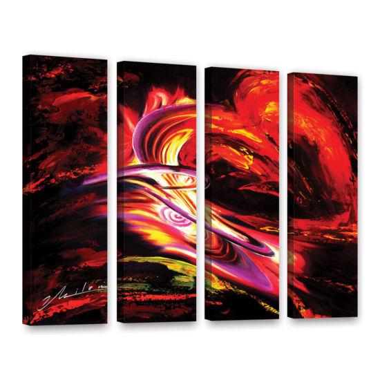 Brushtone Flair 4-pc. Gallery Wrapped Canvas WallArt