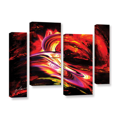Brushtone Flair 4-pc. Gallery Wrapped Staggered Canvas Wall Art