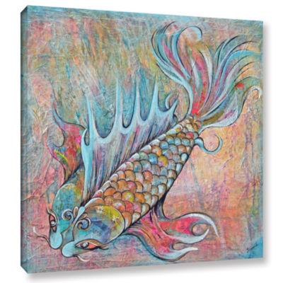 Brushtone Flashy Koi Gallery Wrapped Canvas Wall Art