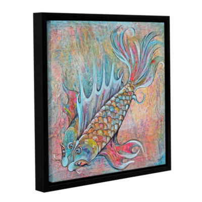 Brushtone Flashy Koi Gallery Wrapped Floater-Framed Canvas Wall Art
