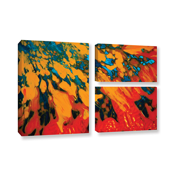 Brushtone Floating 3-pc. Flag Gallery Wrapped Canvas Wall Art
