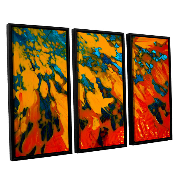 Brushtone Floating 3-pc. Floater Framed Canvas Wall Art