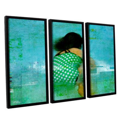Brushtone Floating Away 3-pc. Floater Framed Canvas Wall Art