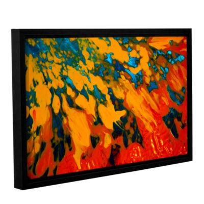 Brushtone Floating Gallery Wrapped Floater-FramedCanvas Wall Art