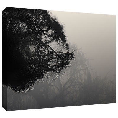Brushtone Foggy Christmas Gallery Wrapped Canvas Wall Art