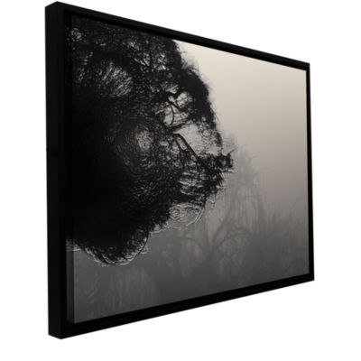 Brushtone Foggy Christmas Gallery Wrapped Floater-Framed Canvas Wall Art