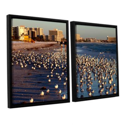 Brushtone Flock Of Love 2-pc. Floater Framed Canvas Wall Art