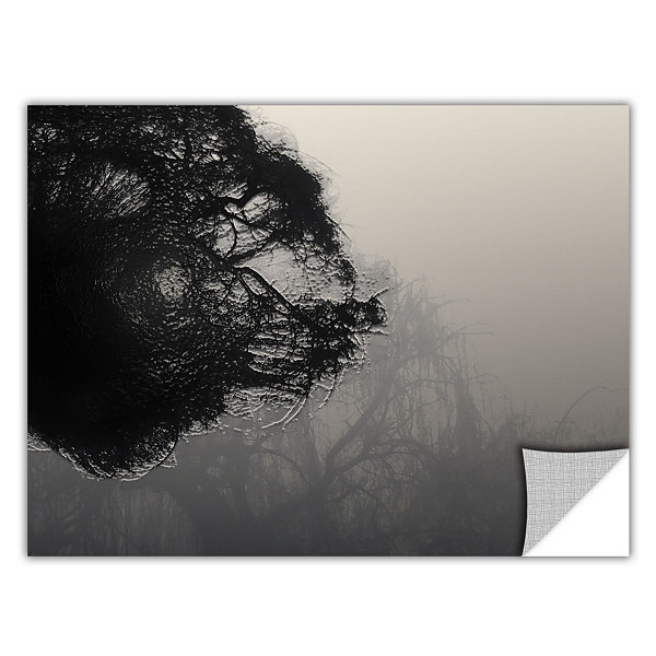 Brushtone Foggy Christmas Removable Wall Decal