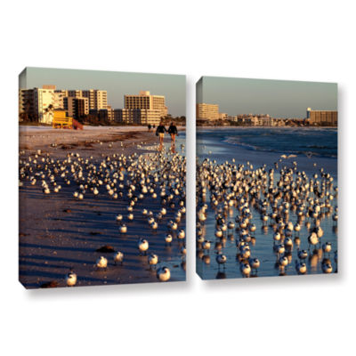 Brushtone Flock Of Love 2-pc. Gallery Wrapped Canvas Wall Art