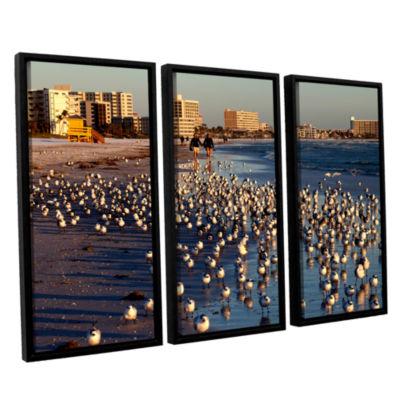 Brushtone Flock Of Love 3-pc. Floater Framed Canvas Wall Art
