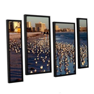 Brushtone Flock Of Love 4-pc. Floater Framed Staggered Canvas Wall Art