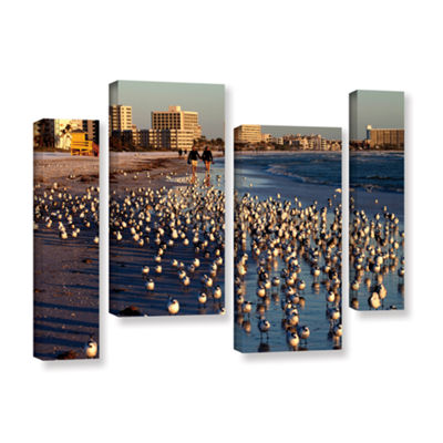 Brushtone Flock Of Love 4-pc. Gallery Wrapped Staggered Canvas Wall Art