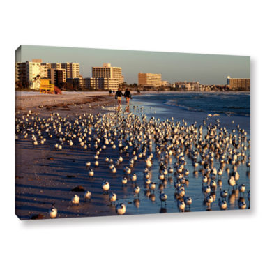 Brushtone Flock Of Love Gallery Wrapped Canvas Wall Art