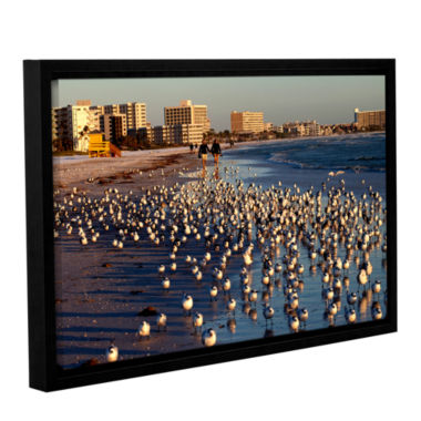 Brushtone Flock Of Love Gallery Wrapped Floater-Framed Canvas Wall Art