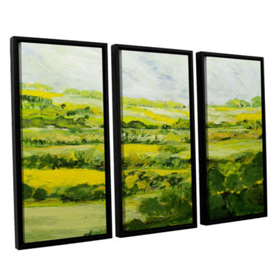 Brushtone Folkestone 3-pc. Floater Framed Canvas Wall Art