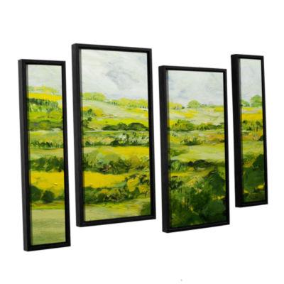 Brushtone Folkestone 4-pc. Floater Framed Staggered Canvas Wall Art