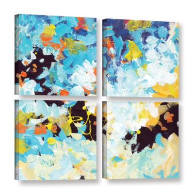 Brushtone Floral Garden 2 4-pc. Square Gallery Wrapped Canvas Wall Art
