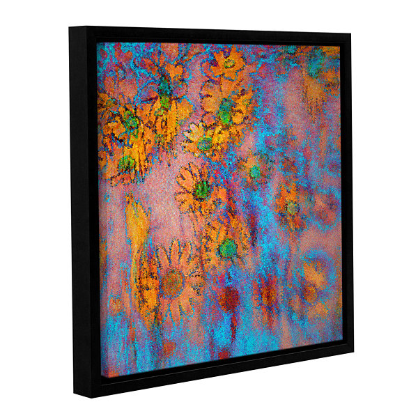 Brushtone Floral Thought Gallery Wrapped Floater-Framed Canvas Wall Art