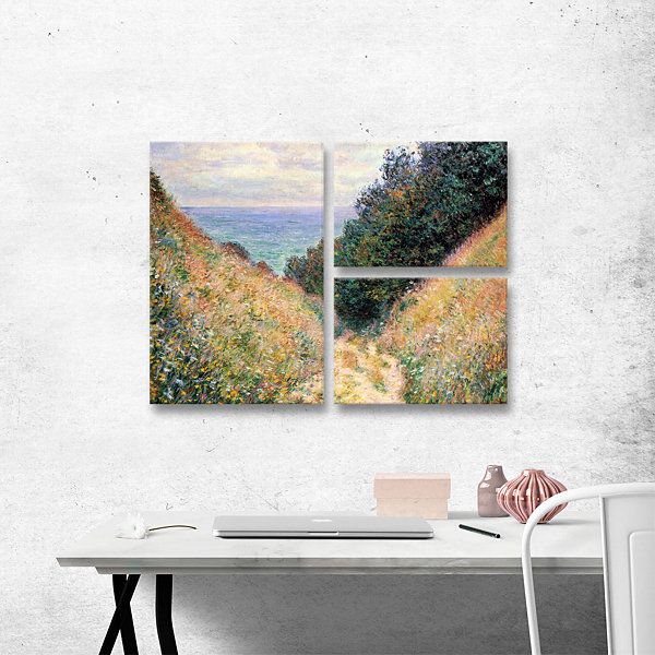 Brushtone Footpath 3-pc. Flag Gallery Wrapped Canvas Wall Art