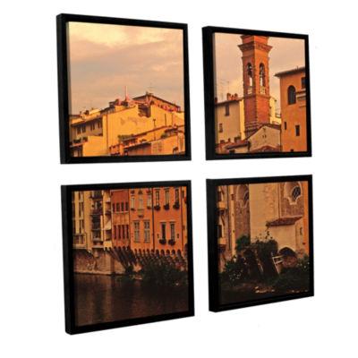 Brushtone Florence Charm 4-pc. Square Floater Framed Canvas Wall Art