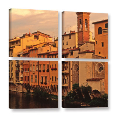 Brushtone Florence Charm 4-pc. Square Gallery Wrapped Canvas Wall Art