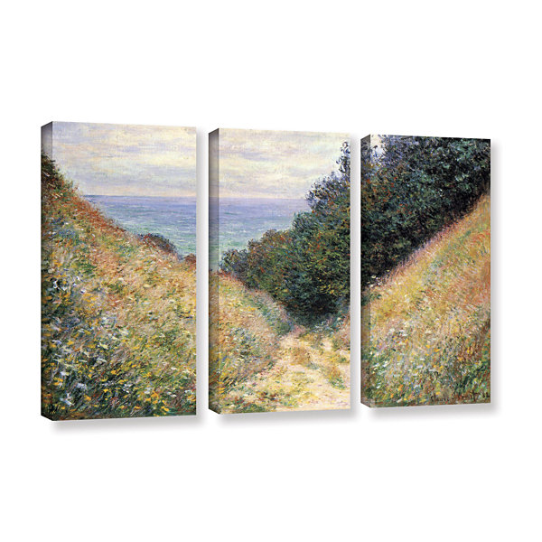 Brushtone Footpath 3-pc. Gallery Wrapped Canvas Wall Art
