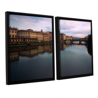 Brushtone Florence Memories 2-pc. Floater Framed Canvas Wall Art