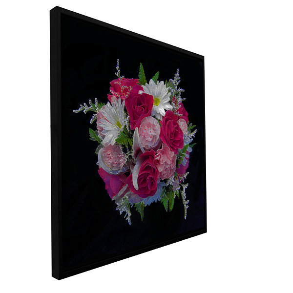 Brushtone For The Love Gallery Wrapped Floater-Framed Canvas Wall Art
