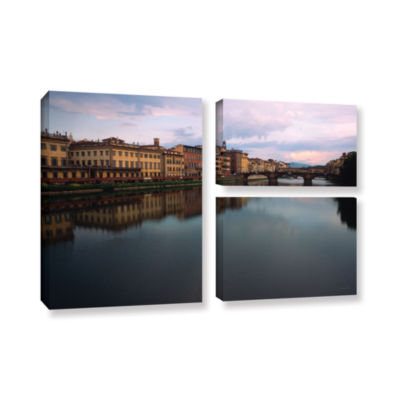 Brushtone Florence Memories 3-pc. Flag Gallery Wrapped Canvas Wall Art