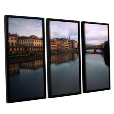 Brushtone Florence Memories 3-pc. Floater Framed Canvas Wall Art