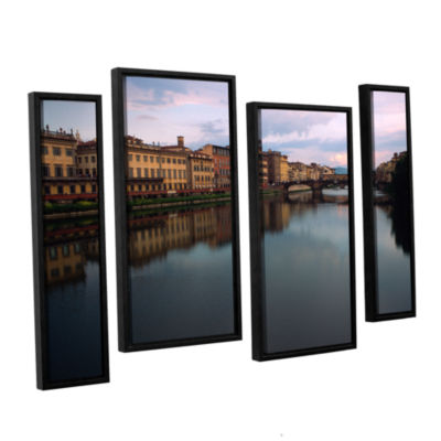 Brushtone Florence Memories 4-pc. Floater Framed Staggered Canvas Wall Art