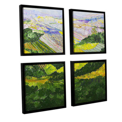 Brushtone Forest And Harvest 4-pc. Square FloaterFramed Canvas Wall Art