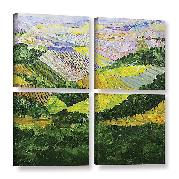 Brushtone Forest And Harvest 4-pc. Square GalleryWrapped Canvas Wall Art