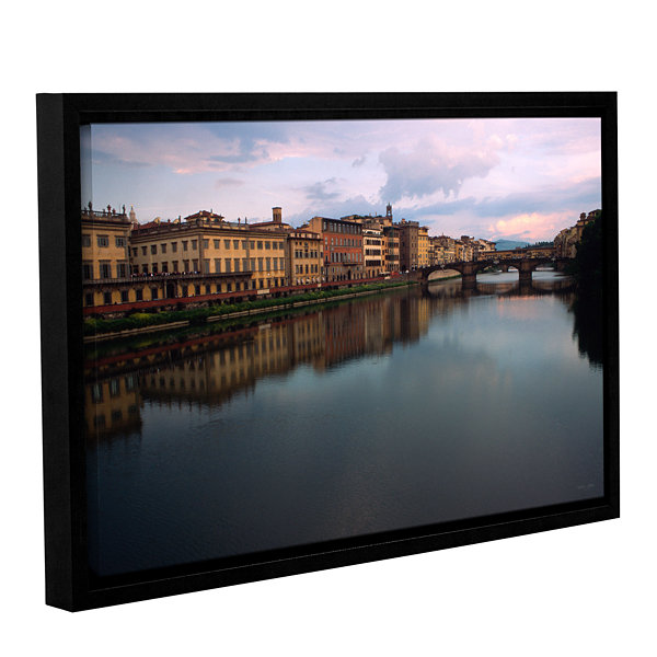 Brushtone Florence Memories Gallery Wrapped Floater-Framed Canvas Wall Art