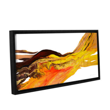 Brushtone Flow 2 Gallery Wrapped Floater-Framed Canvas Wall Art