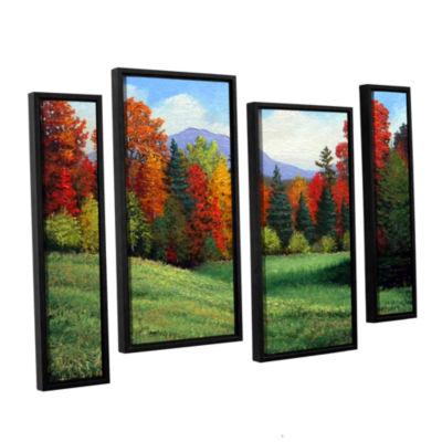 Brushtone Forest Edge 4-pc. Floater Framed Staggered Canvas Wall Art