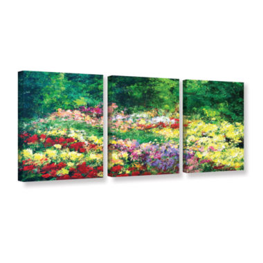 Brushtone Forest Garden 3-pc. Gallery Wrapped Canvas Wall Art