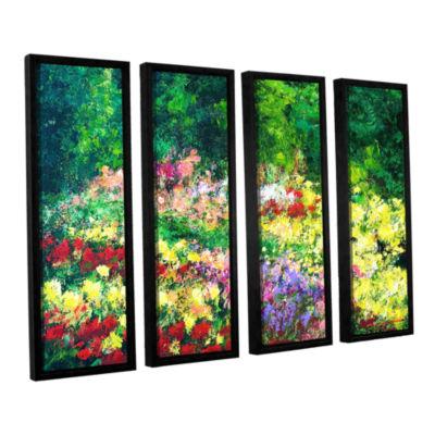 Brushtone Forest Garden 4-pc. Floater Framed Canvas Wall Art