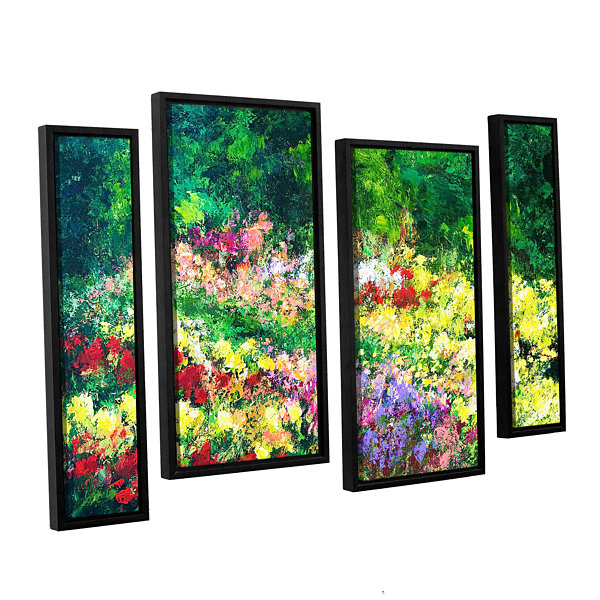 Brushtone Forest Garden 4-pc. Floater Framed Staggered Canvas Wall Art