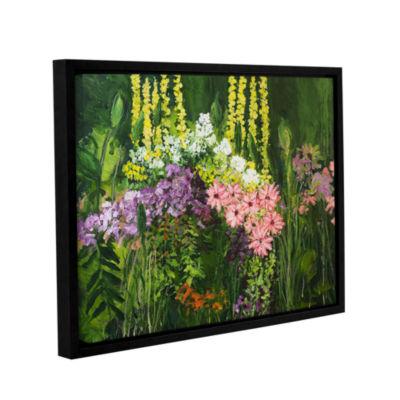 Brushtone Flower Dance Gallery Wrapped Floater-Framed Canvas Wall Art