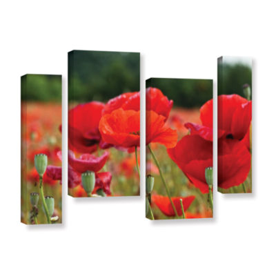 Brushtone Flower Field 4-pc. Gallery Wrapped Staggered Canvas Wall Art