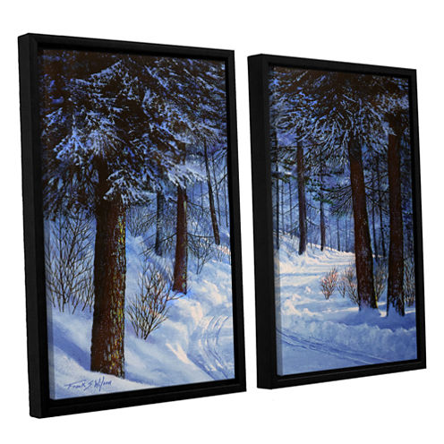 Brushtone Forest Road 2-pc. Floater Framed CanvasWall Art