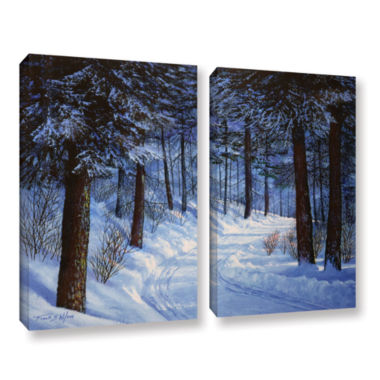 Brushtone Forest Road 2-pc. Gallery Wrapped CanvasWall Art